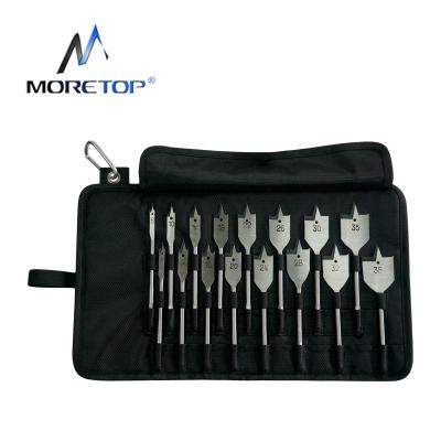 moretop 20401006 16pcs Wood Flat  Drill Bit Set