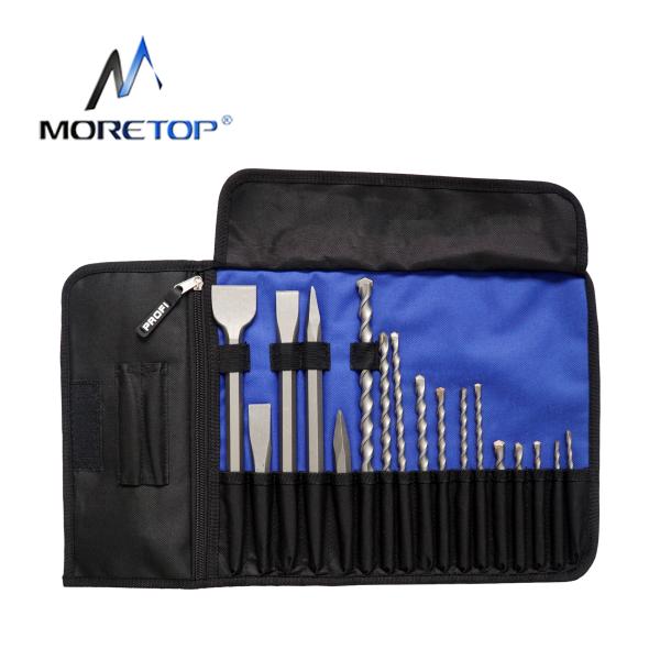 moretop 20402001 17pcs Hammer Drill & Chisel Set