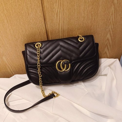 Wholesale vintage Black white metal chain shoulder bags