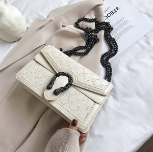 Metal ring decoration pu lady shoulder bags wholesale Shoulder  Chain decoration bags  Ladies bags Messenger Bags