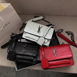 YSL style chain embossing satchel  fashion pu satchel  bags shoulder bags