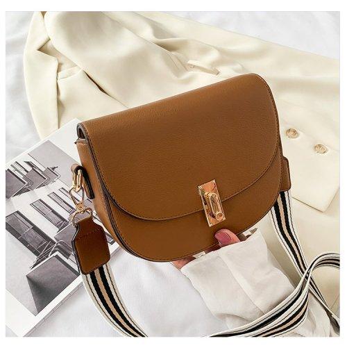 Adjustable Strap lady's saddle silhouette Shoulder bags crossbody  bags Mini Saddle Bag  crossbody Bag  women vintage backpck