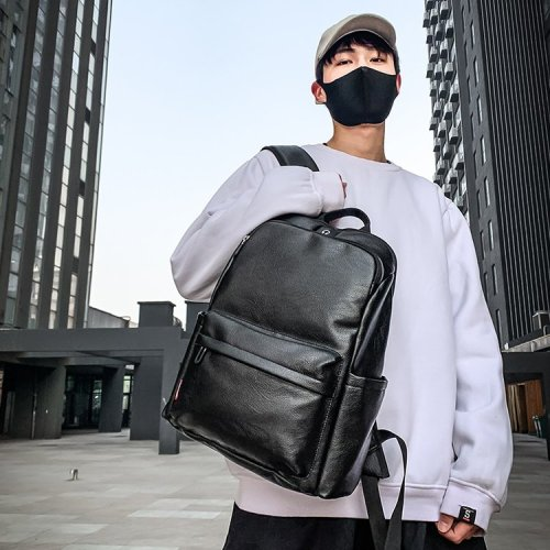 Trendy Simple style prime fashion  PU Backpack for men