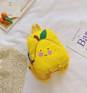 Wholesale Funny fruit pattern school bag for  nursery school students kindergarten school bag  pu bags