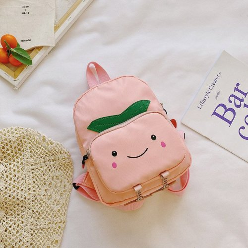 Wholesale Funny fruit pattern school bag for  nursery school students kindergarten school bag  pu bags