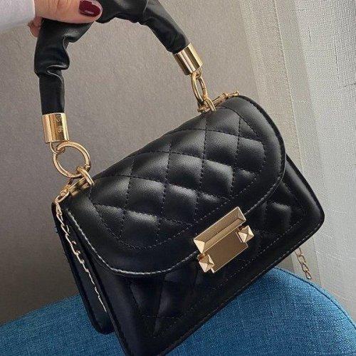 Custom fashion  Women's mini square handbag with flap Totes bag