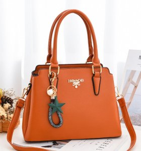Latest trendy large capacity women's top handles  totes bag with hang decorations