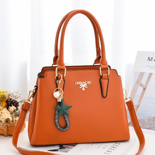 Latest trendy large capacity women's top Fashion handles  totes bag with hang decorations