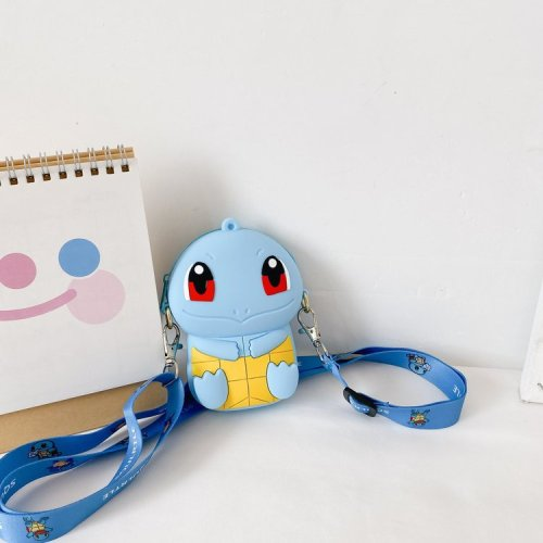 Cartoon character shaped mini children crossbody safe silicon shoulder  bags