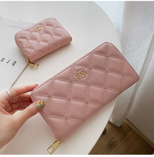 Chanel Style Classic Matelasse Quilting Women's  Clutches Purse  Envelope Wallet
