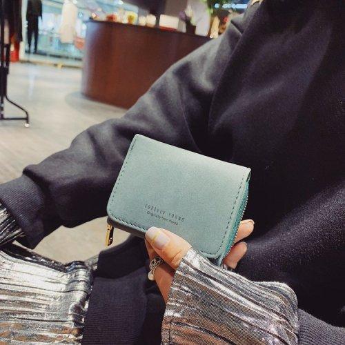 Wholesale Mini matt  women's  scrub fabric wallet clutch
