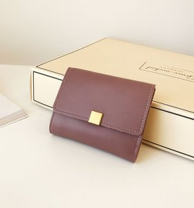 Pure colors envelope stylish simple purse for women mini pochette