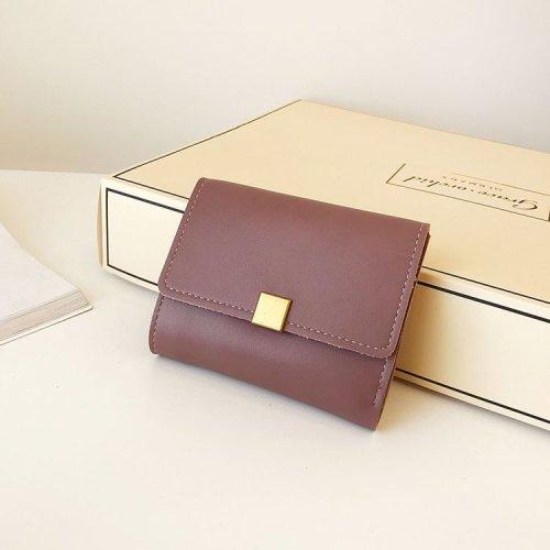 Pure colors envelope stylish simple purse for women mini pochette