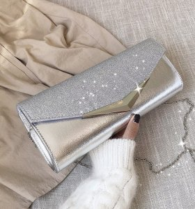 Front flap paillette ladies clutches  sequins pochettes  glitter evening bags