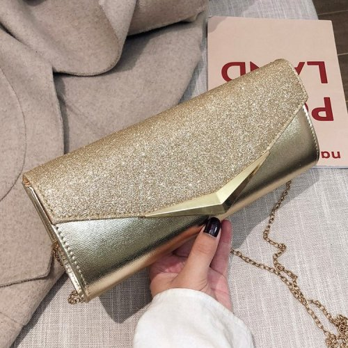 Front flap paillette ladies clutches  sequins pochettes  glitter evening bags