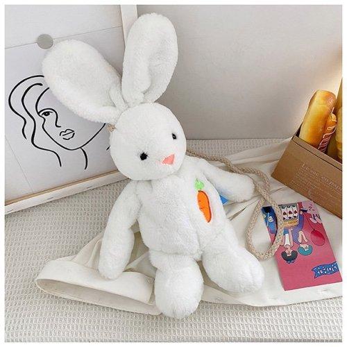 White Rabbit Velvet  Shoulder Bag Cartoon Toy  Bag For Girls  Soft Rabbit Toy  Bag Cute  Rabbit Velvet  Shoulder bag High quality velvet bag white Velvet  Shoulder bag