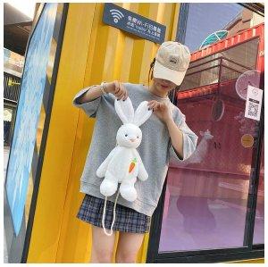 White Rabbit Velvet  Shoulder Bag Cartoon Toy  Bag For Girls