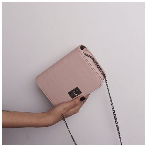 Hairline chain strap Wood Grain Rectangular Shoulder Bags Handbags