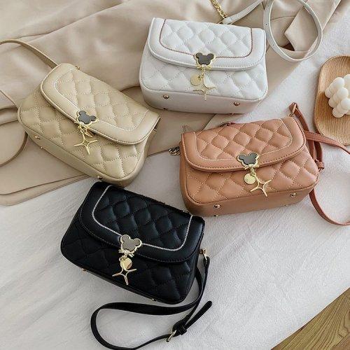 Glossy  Metal Hardware Decoration Matelasse  Quilted Shoulder Bags Chain shoulder  Handbag Custom Women's Flap
