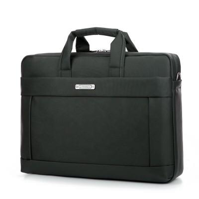 2021 factory customized logo 15.6inch black color waterproof mens messenger bag laptop Laptop Briefcase