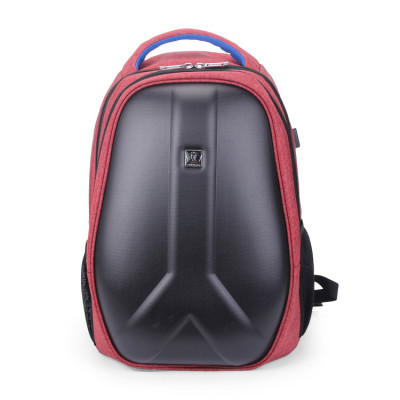 Outdoor Customise Logo Waterproof Material China Factory Hard Shell USB Charger Backpack Bags