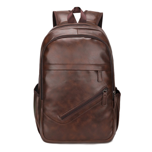 Custom logo waterproof large pu leather backpack for women and men bags
