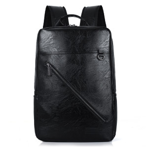 Best travel accessories men bags polyester backpack camouflage PU laptop business bag Leather Backpack
