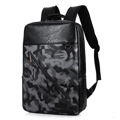 Best travel accessories men bags camouflage PU laptop business bag backpack