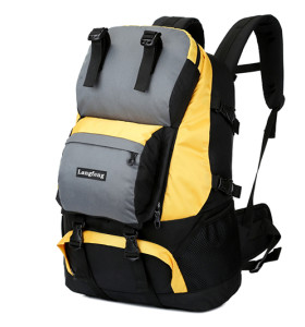 Backpack with shoe compartment waterproof Hiking backpack50L .   polyester