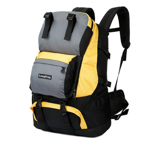 Backpack with shoe compartment waterproof Hiking backpack50L polyester  hiking sports bags
