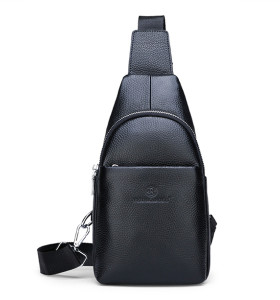 Genuine Leather Waterproof Crossbody Bag Men Crossbody Leather Bag