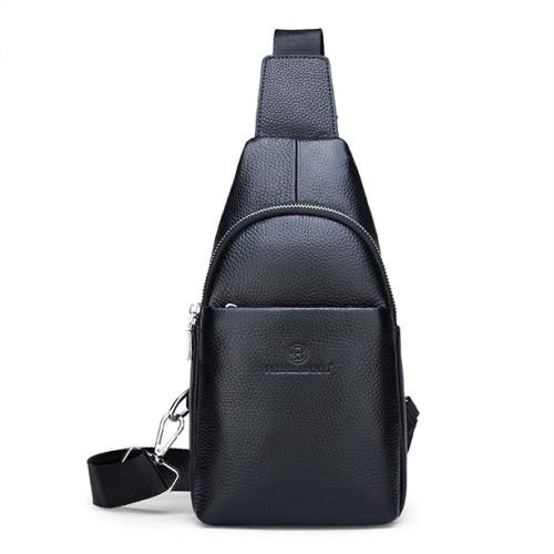 Genuine Leather Waterproof Crossbody Bag Men Crossbody Leather Bag Man chest bags