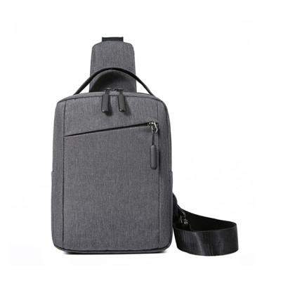 Custom logo USB bags crossbody bags shoulder chest bag for men
