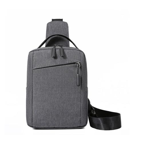 Custom logo USB bags crossbody bags shoulder chest bag for men