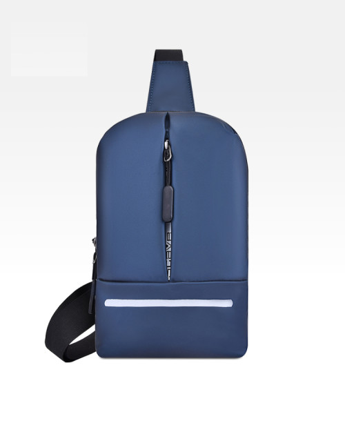 Men fashion waterproof crossbody chest sling bag with reflective strap
