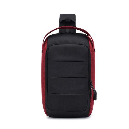 New breast bag single shoulder bag USB port multi function chest bag for men