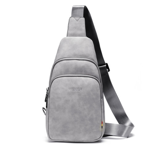 Fashion man bags PU leather cross body bag men sport travel casual shoulder bags messenger bags with earphone