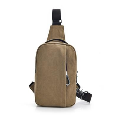 Outdoor crossbody shoulder chest bag men canvas sling bag