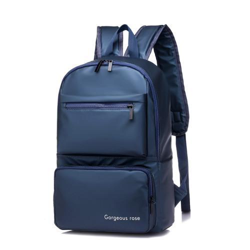 Custom new style business travel men black laptop computer backpack zipper bags