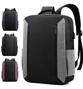 Grey color waterproof nylon Men's backpack material wholesale Backpack  15.6 inch USB Backpack Bag fanshion backpack