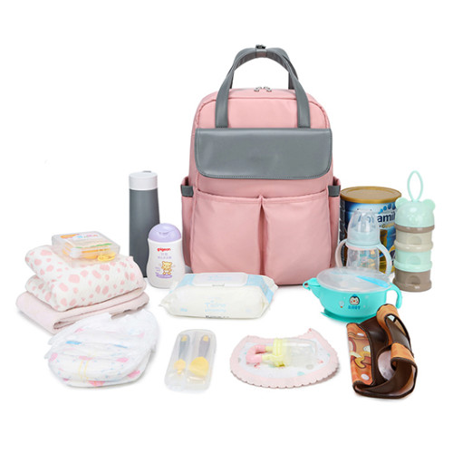 Travel designers diaper bag for baby three color design style fashion backpack .