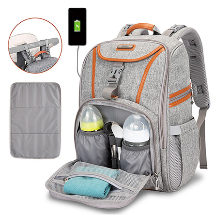 Big Capacity Multi-Functional Diaper Bag Mommy Backpack for Baby Care