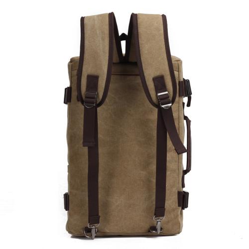 Custom travelling vintage canvas backpack outdoor backpack sport backpack