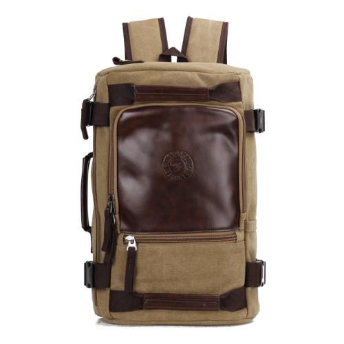 Custom travelling vintage canvas backpack