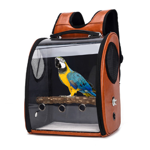 High Quality Transparent Space Breathable Pet cage travel pet bird bag