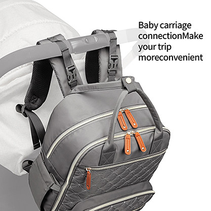 Fashionable diaper mommy bag watertproof and stain-repellent surface diaper Polyester  bag