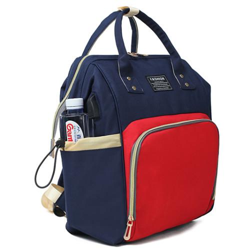 Waterproof Oxford Diaper Bags Mommy Baby Bag With Sleeping Bed Gray backpack Multi-Functional Diaper Bag