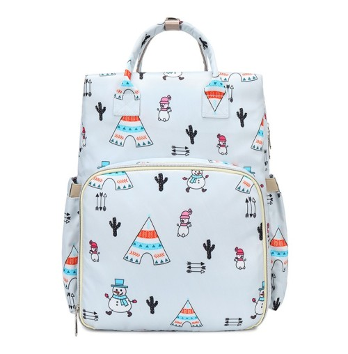 Baby bags luiertas 2021 portable outdoor changing printed unique nylon travel cloth baby diaper bags