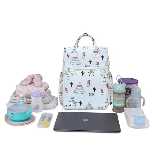 Baby bags luiertas 2021 portable outdoor changing printed unique nylon travel cloth baby diaper bag