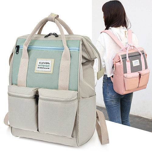 Newest fashion travel double handle or shoulder Multi-function oxford baby diaper bags